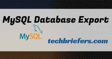 Export MySQL database from command line - techbriefers.com
