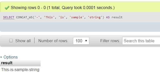 MySQL concat_ws function - techbriefers.com