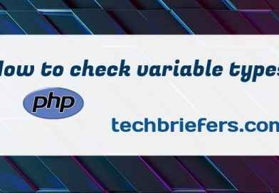 How to check variable types in PHP - techbriefers.com