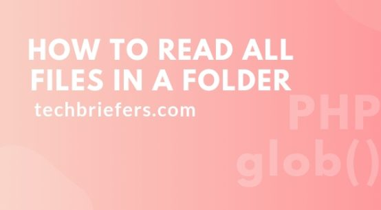 How to read all files in a folder | PHP glob | Techbriefers