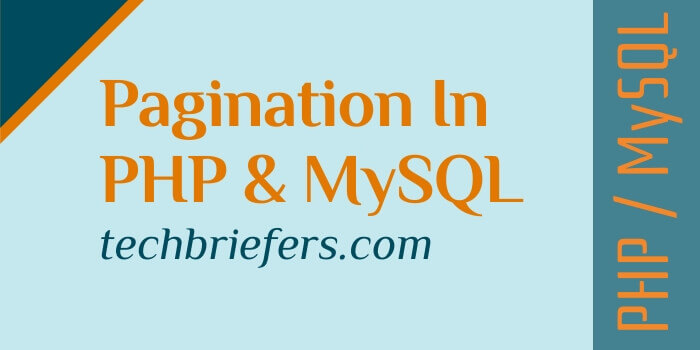 How to create pagination in PHP and MySQL - complete code