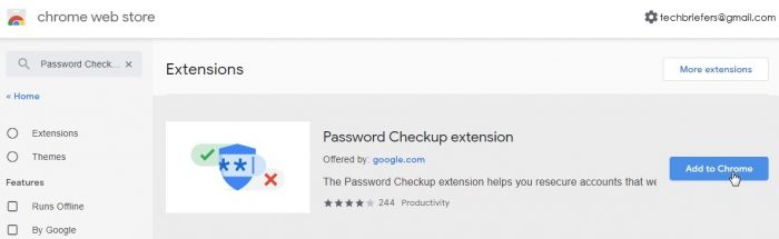 Install Google password checkup tool 1