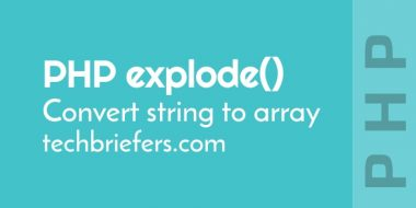 How to convert string to array in PHP by PHP explode() function