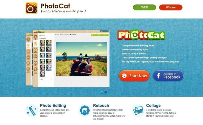 Phptocat photo editor online