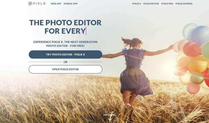 Pixlr: Top photo editor online