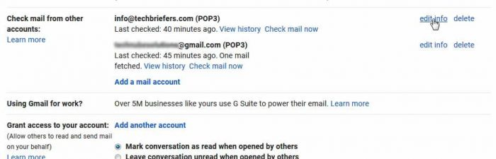 Recieve domain mail in gmail account