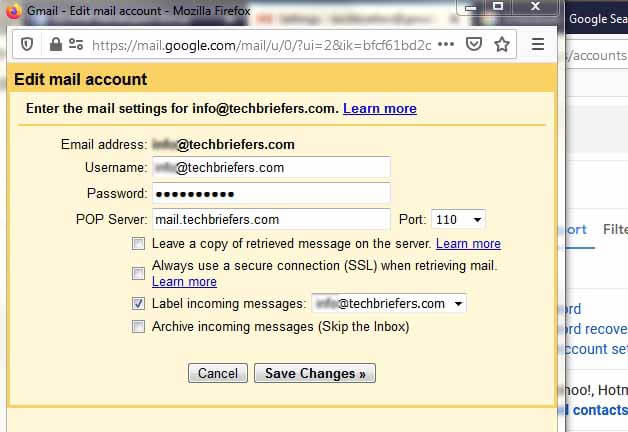 Steps to Recieve domain mail in gmail account