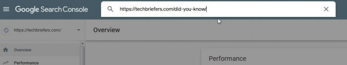Search Any URL of your website in search console