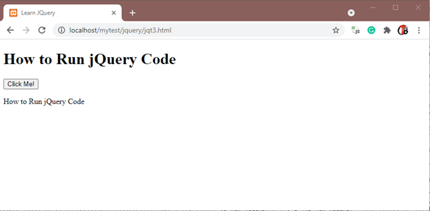 Final Result of event ready Jquery Code