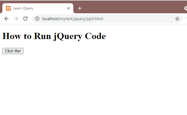 How to Run jQuery Code. Event ready Jqery