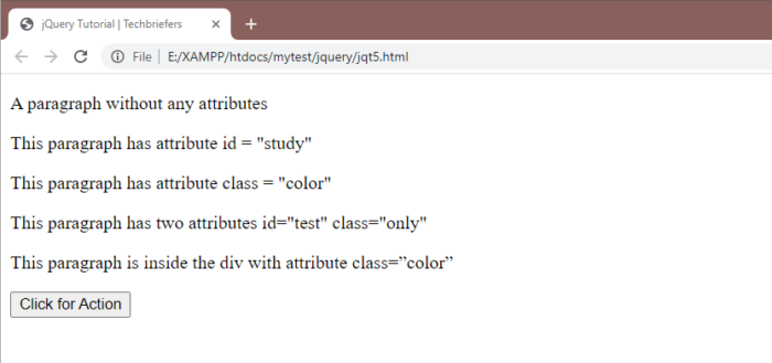 Example to Search HTML Elements with jQuery Selectors