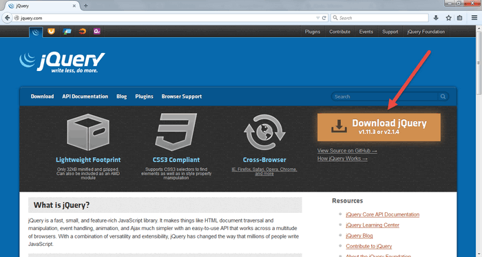 How to Input jQuery Files into HTML