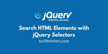 JQuery Tutorial #5: Search HTML Elements with jQuery Selectors