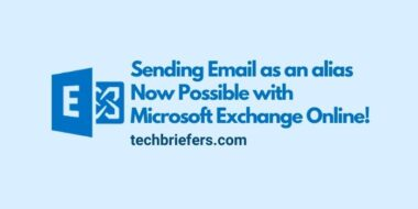 Sending Email as an alias is Possible with MS Exchange Online!