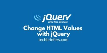 jQuery Tutorial #8: How to Change HTML Values with jQuery