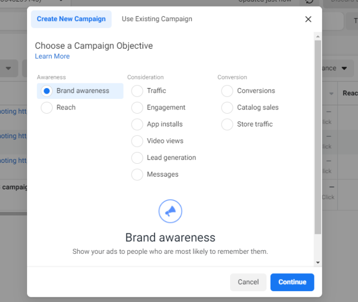 Step to create Facebook Ads Campaign